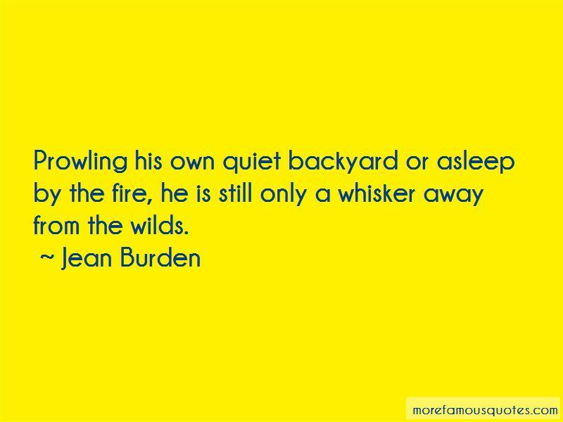 Jean Burden Quotes