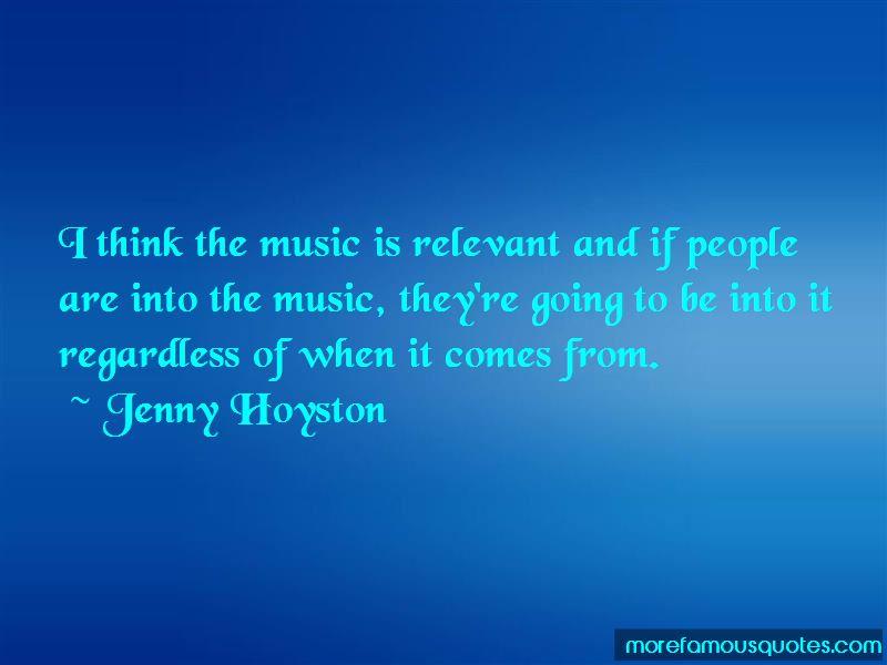 Jenny Hoyston Quotes