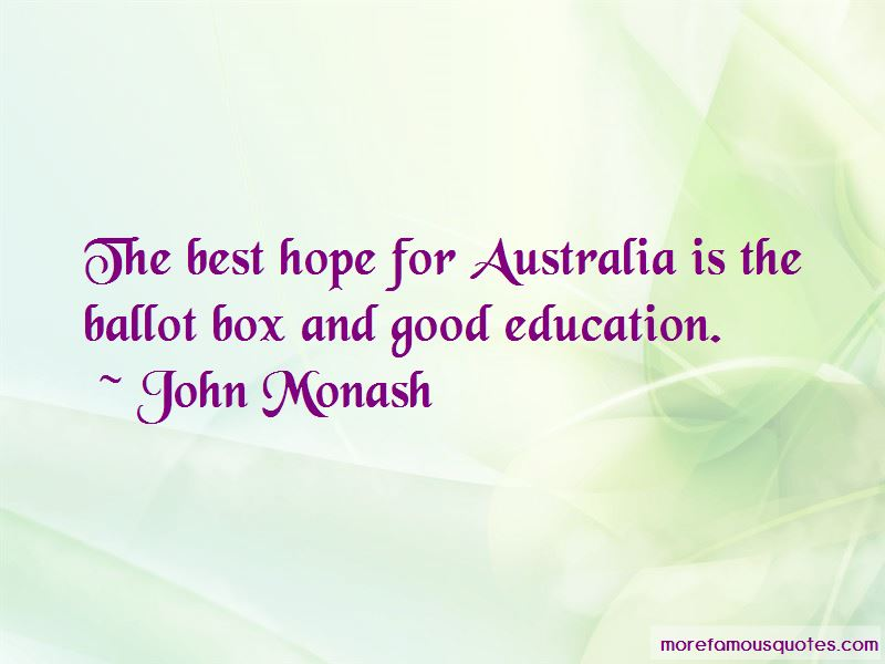John Monash Quotes Pictures 3