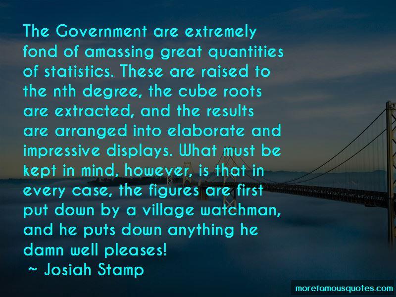 Josiah Stamp Quotes