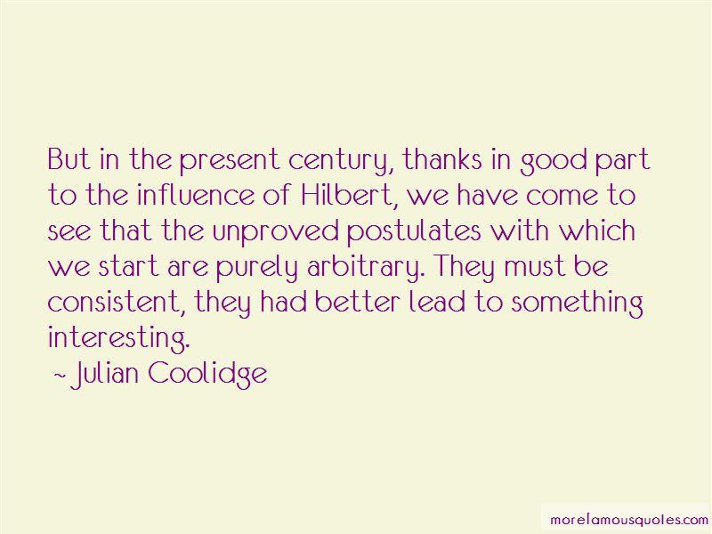 Julian Coolidge Quotes