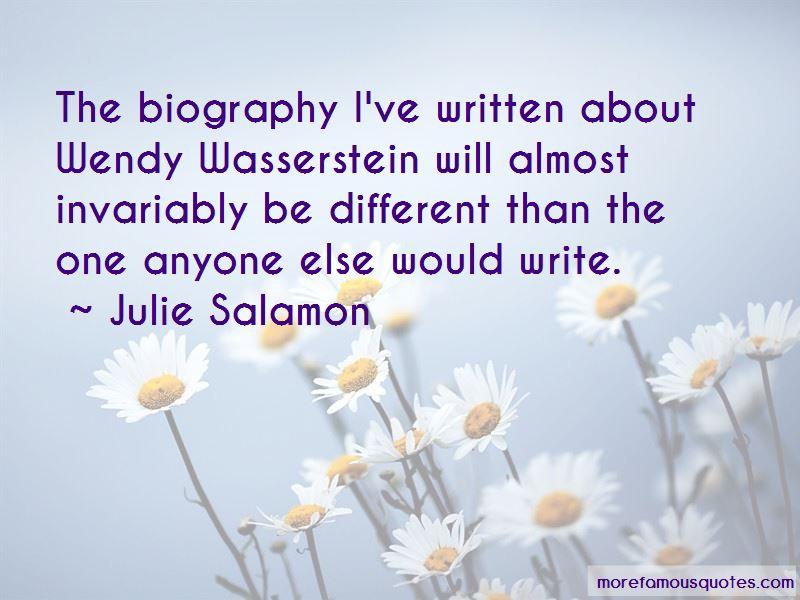 Julie Salamon Quotes Pictures 2