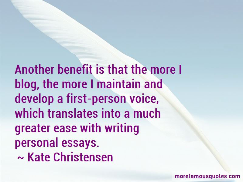 Kate Christensen Quotes
