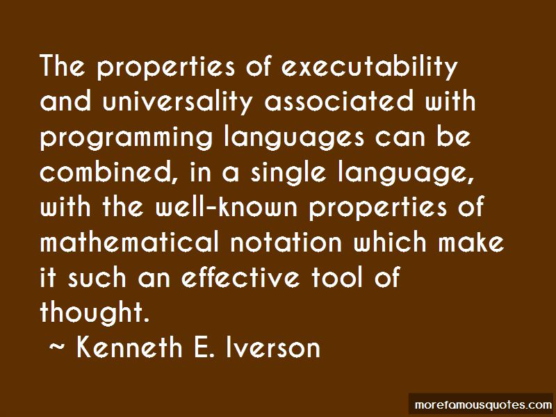 Kenneth E. Iverson Quotes Pictures 3