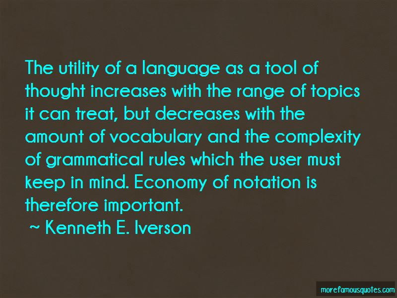 Kenneth E. Iverson Quotes