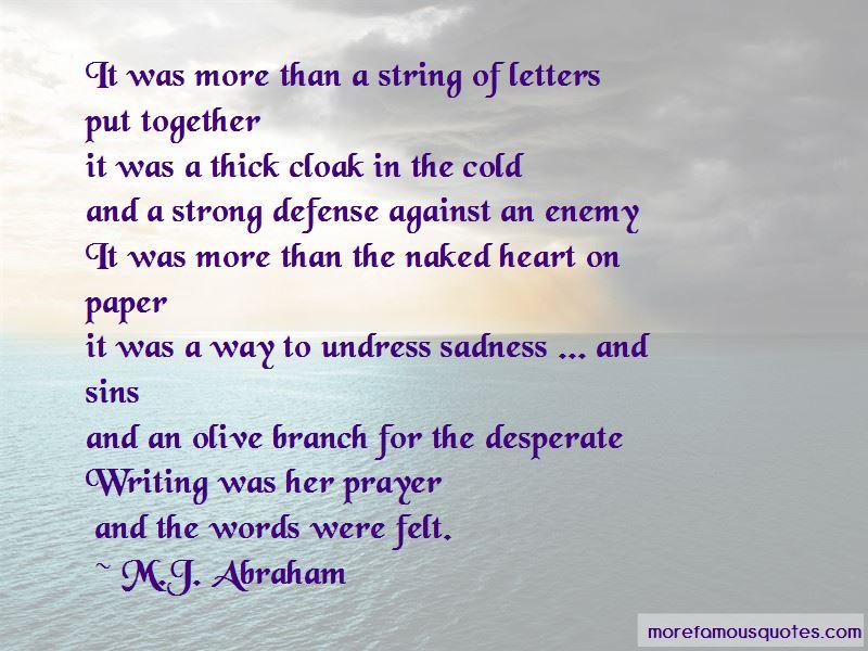 M.J. Abraham Quotes Pictures 2