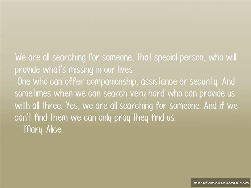 Mary Alice Quotes