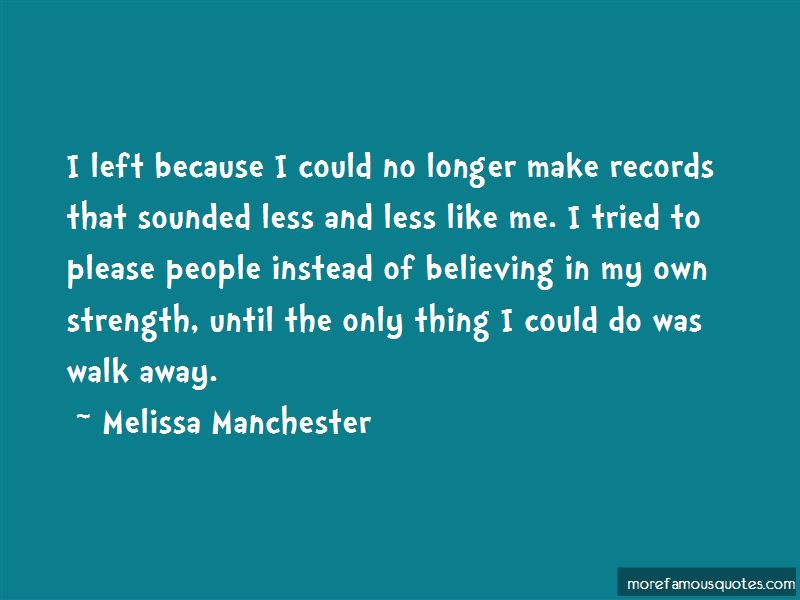 Melissa Manchester Quotes