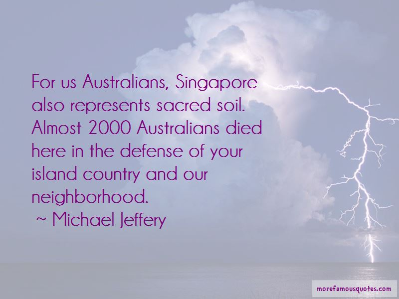 Michael Jeffery Quotes