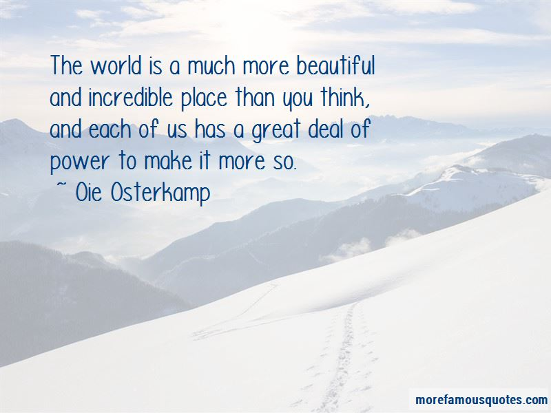 Oie Osterkamp Quotes