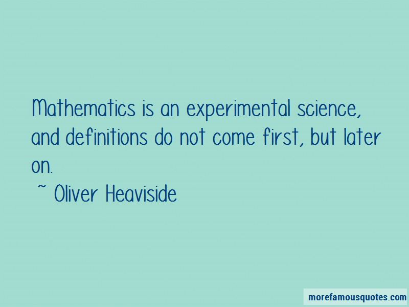 Oliver Heaviside Quotes Pictures 3