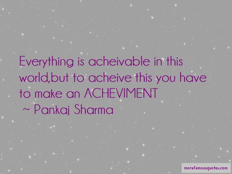 Pankaj Sharma Quotes