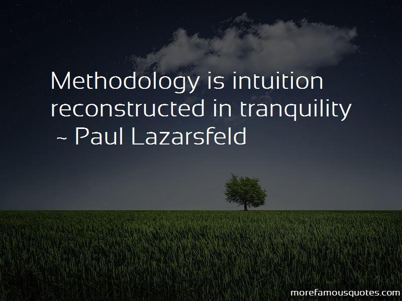 Paul Lazarsfeld Quotes