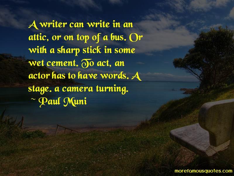 Paul Muni Quotes Pictures 3