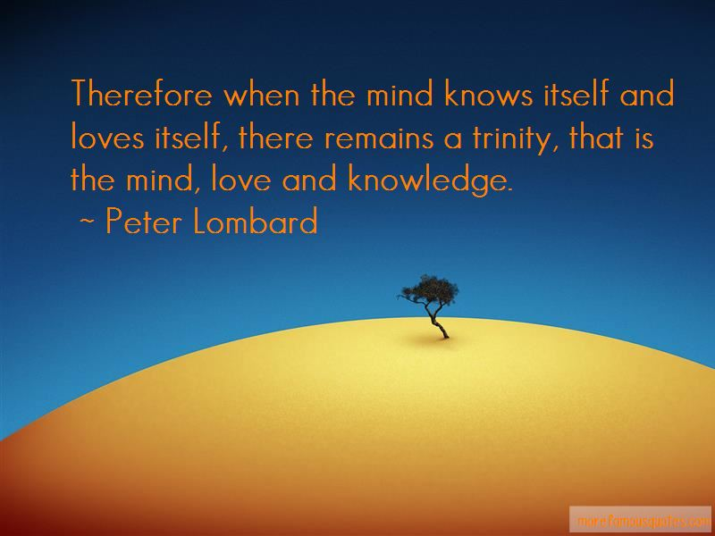 Peter Lombard Quotes Pictures 2
