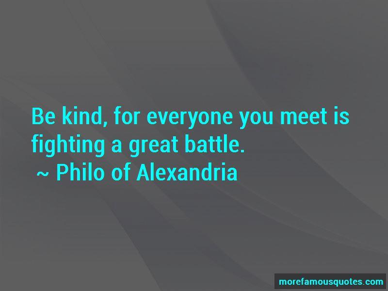 Philo Of Alexandria Quotes