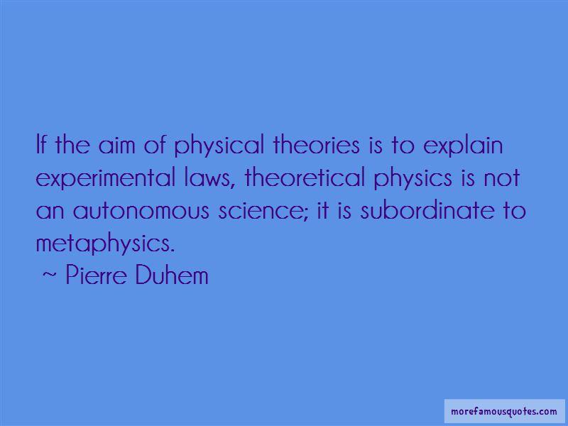Pierre Duhem Quotes
