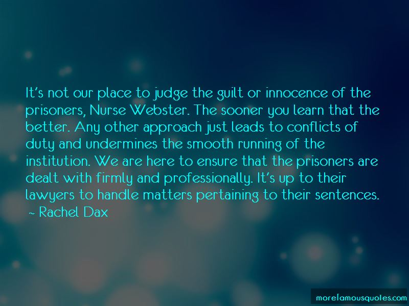 Rachel Dax Quotes
