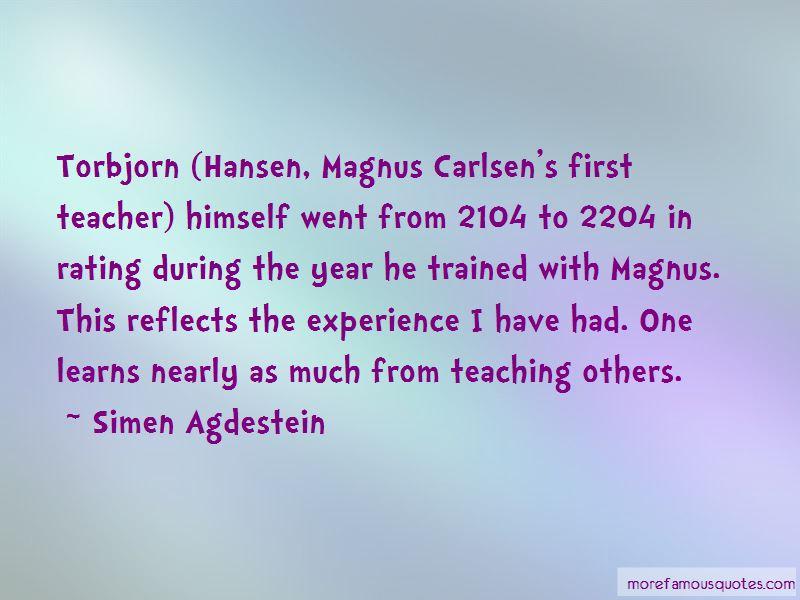 Simen Agdestein Quotes