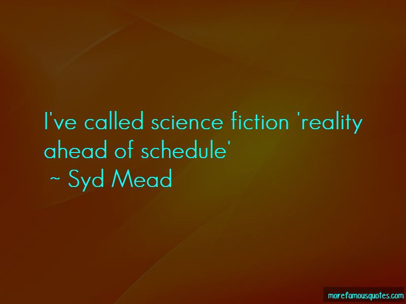 Syd Mead Quotes