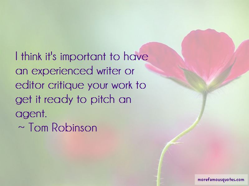 Tom Robinson Quotes Pictures 2
