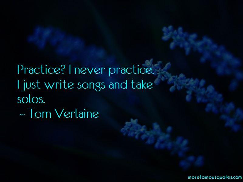 Tom Verlaine Quotes