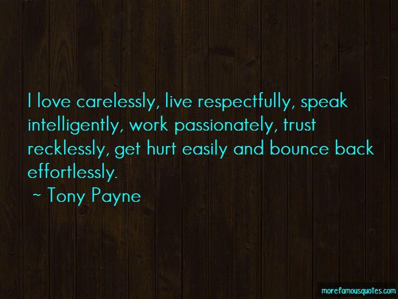 Tony Payne Quotes