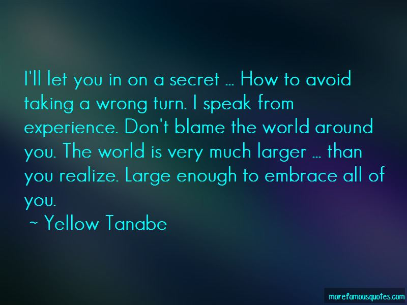Yellow Tanabe Quotes Pictures 3