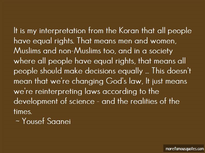 Yousef Saanei Quotes