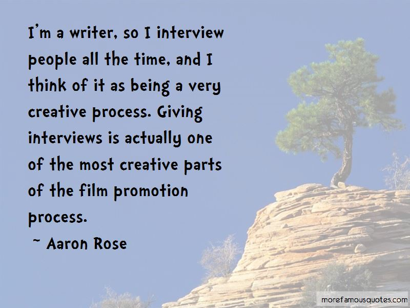 Aaron Rose Quotes