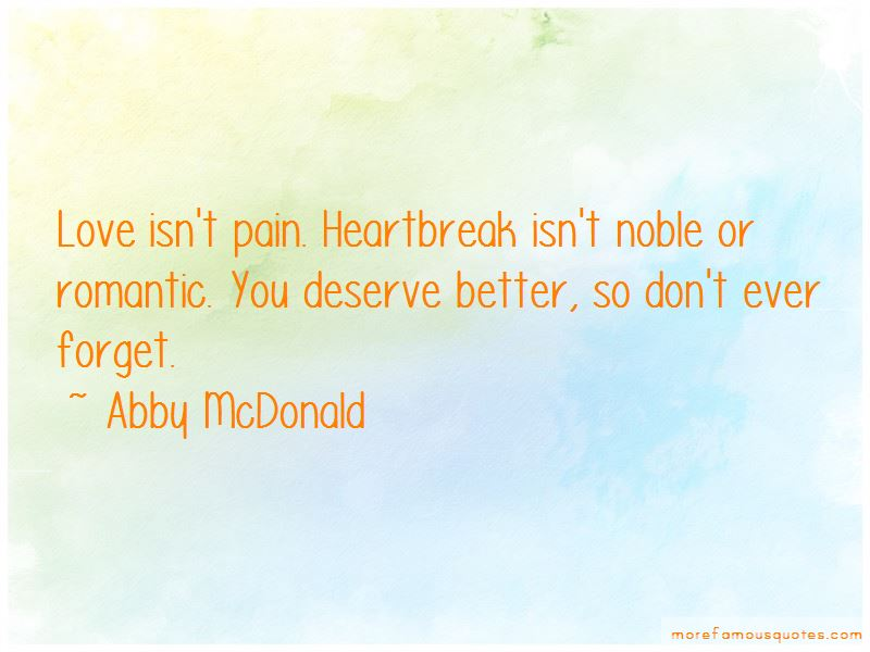 Abby McDonald Quotes Pictures 4