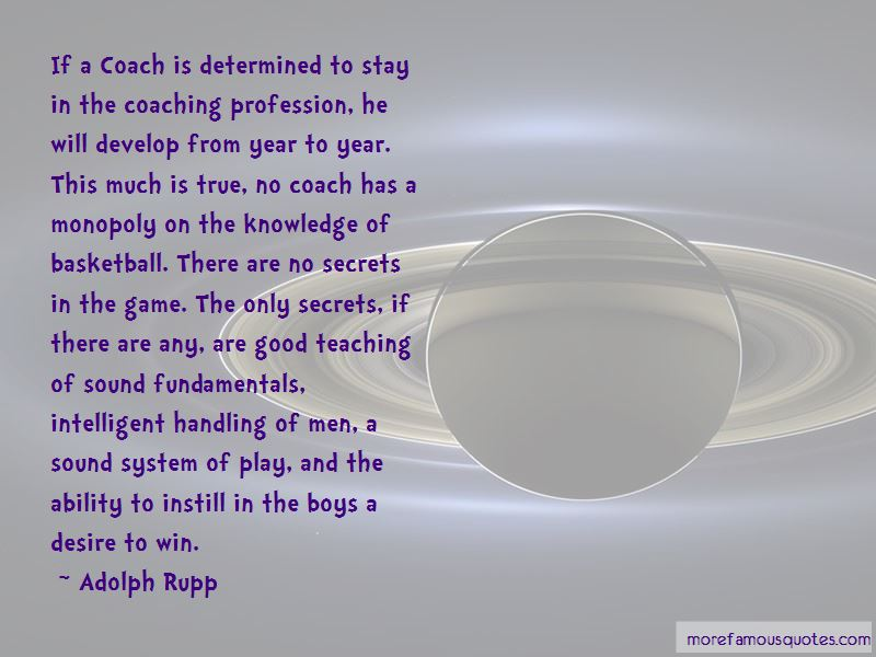 Adolph Rupp Quotes