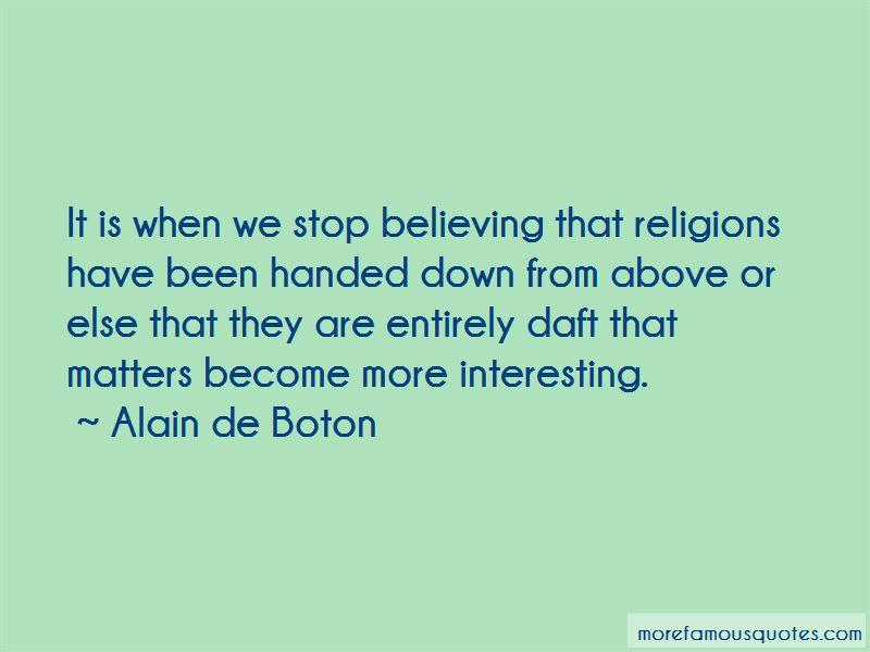 Alain De Boton Quotes