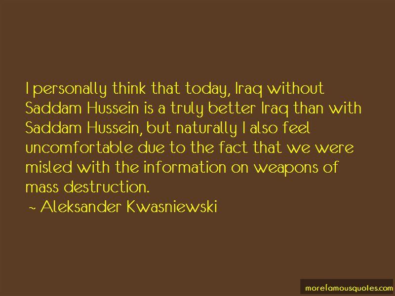 Aleksander Kwasniewski Quotes Pictures 3