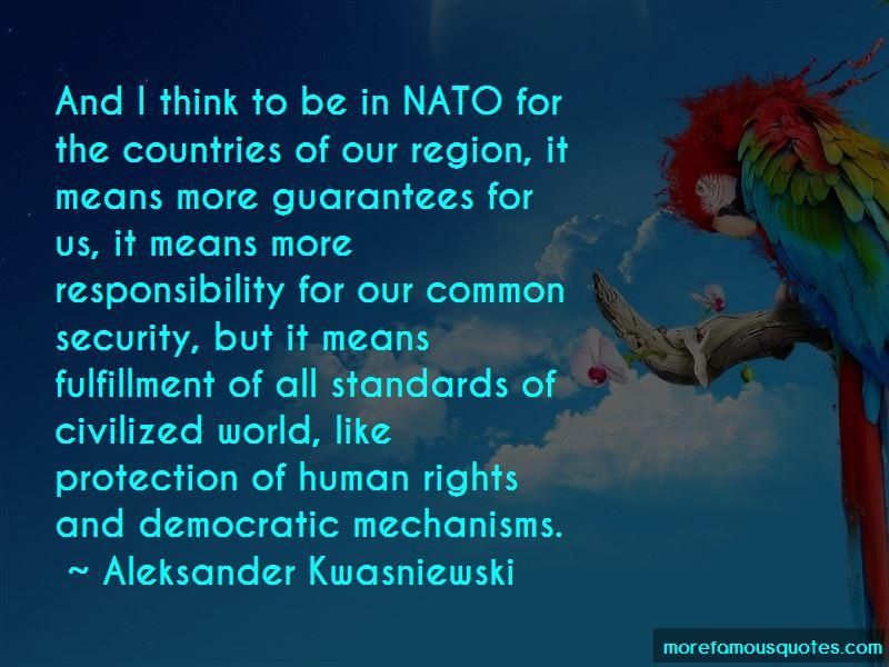 Aleksander Kwasniewski Quotes