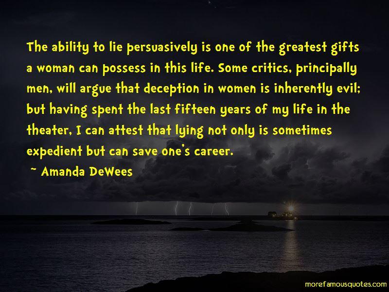 Amanda DeWees Quotes