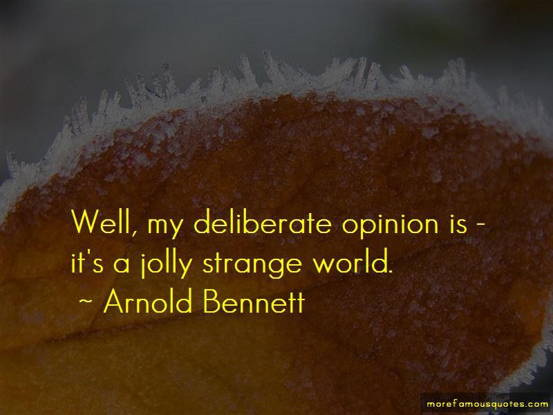 Arnold Bennett Quotes