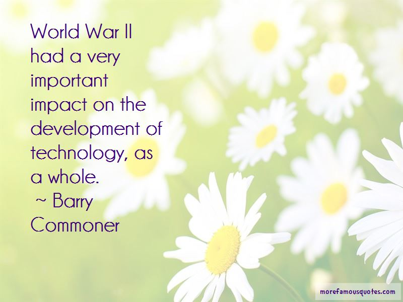 Barry Commoner Quotes