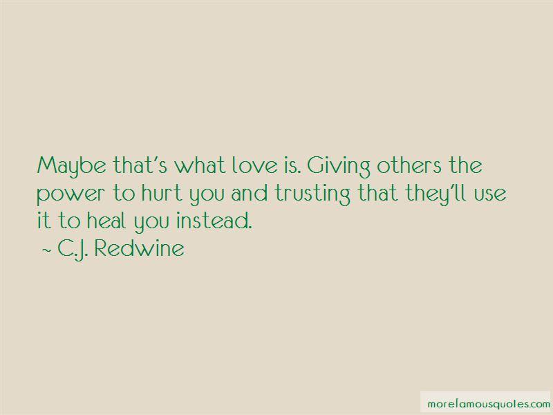 C.J. Redwine Quotes Pictures 4