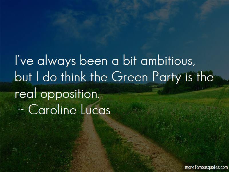 Caroline Lucas Quotes