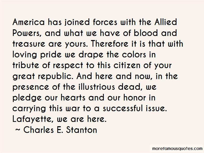 Charles E. Stanton Quotes
