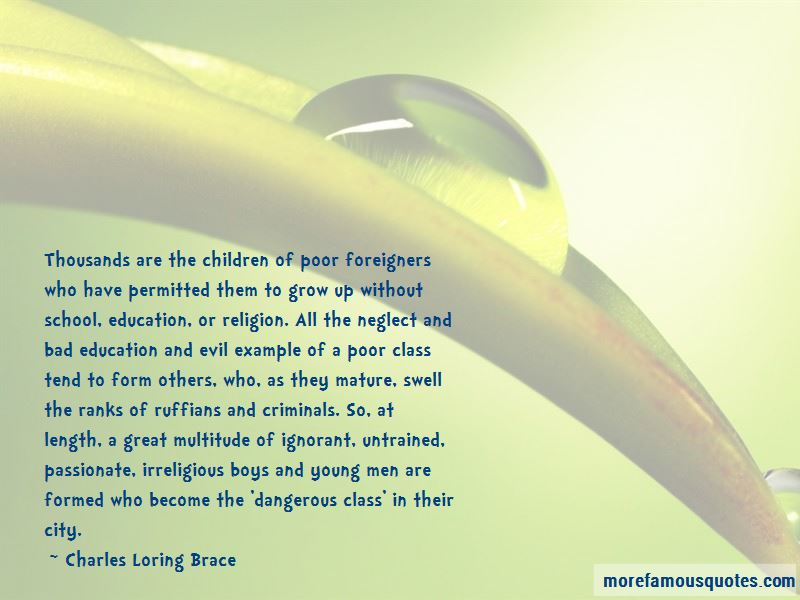 Charles Loring Brace Quotes