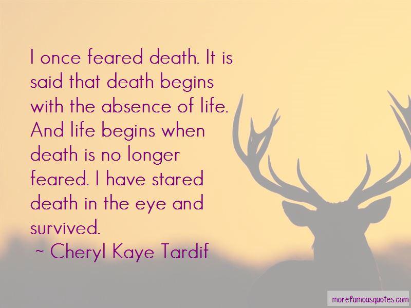 Cheryl Kaye Tardif Quotes