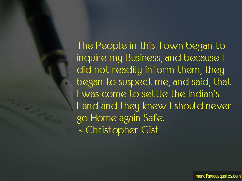 Christopher Gist Quotes