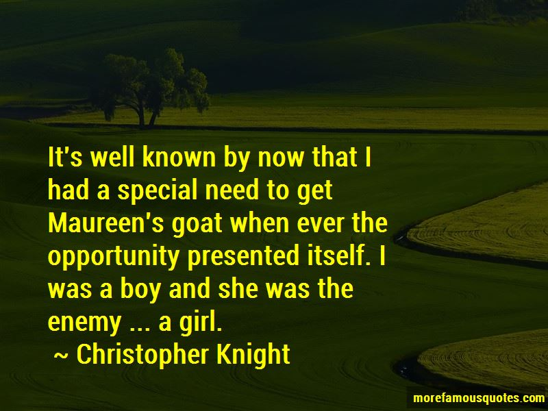 Christopher Knight Quotes