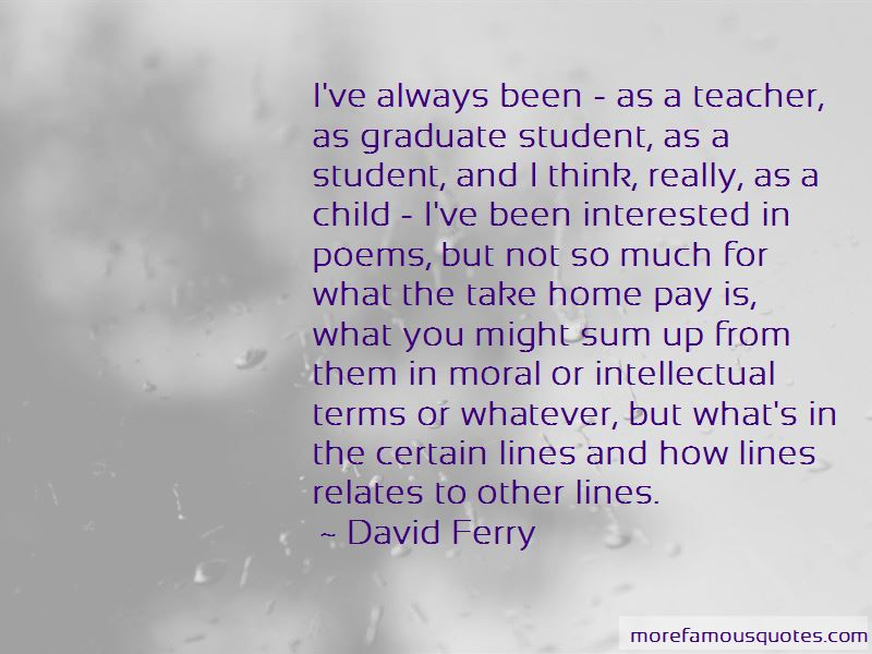 David Ferry Quotes