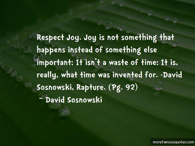 David Sosnowski Quotes