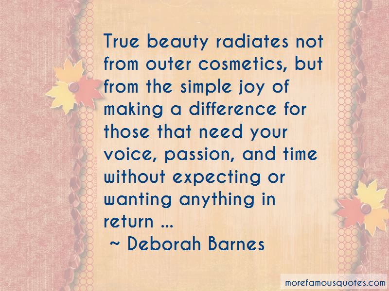 Deborah Barnes Quotes