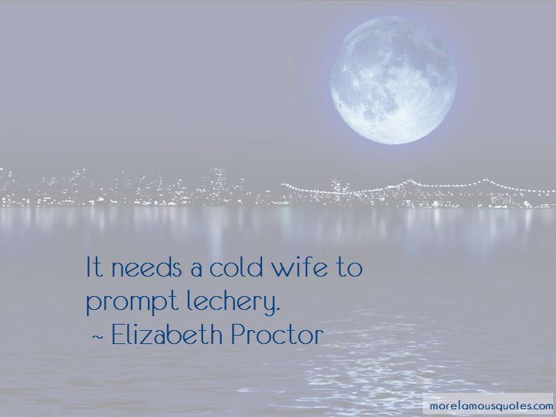 Elizabeth Proctor Quotes