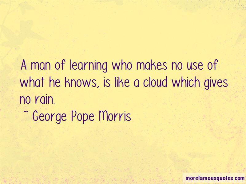 George Pope Morris Quotes